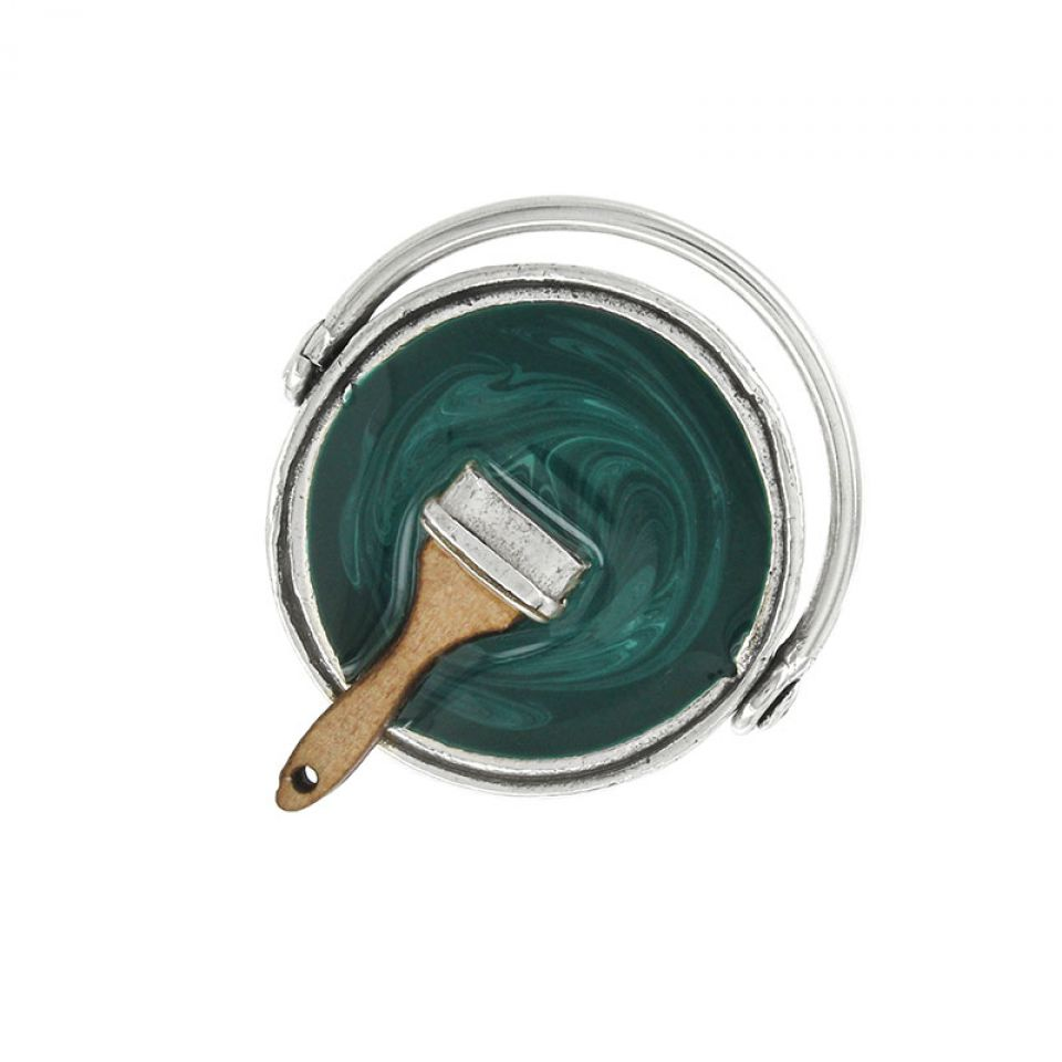 Bague Archi-chic Argent Vert Taratata Bijoux Fantaisie en ligne 1