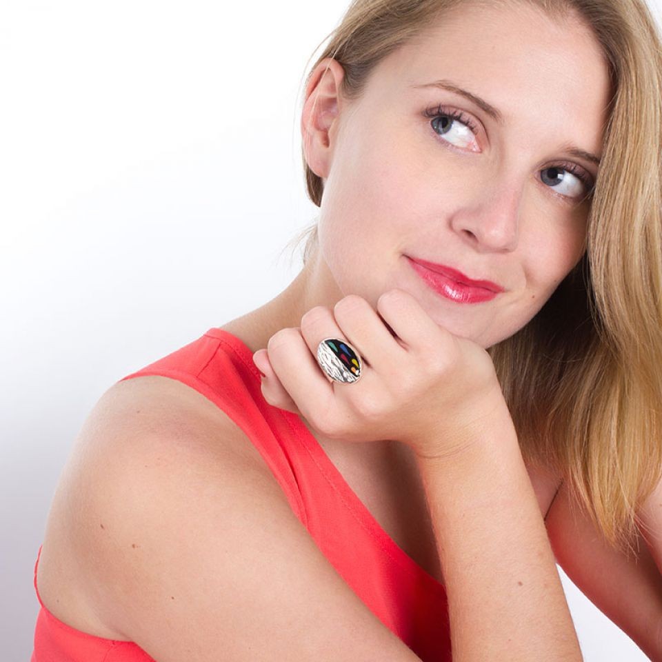 Bague Aronde Argent Multi Taratata Bijoux Fantaisie en ligne 2
