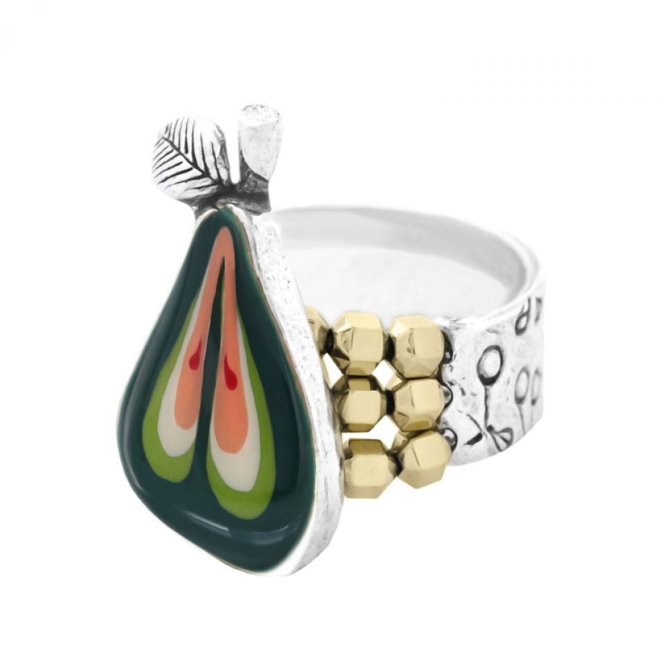 Bague Bonbon Argent Vert Taratata Bijoux Fantaisie en ligne 1
