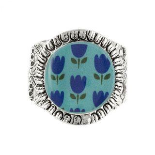 Bague Colette Argent Bleu