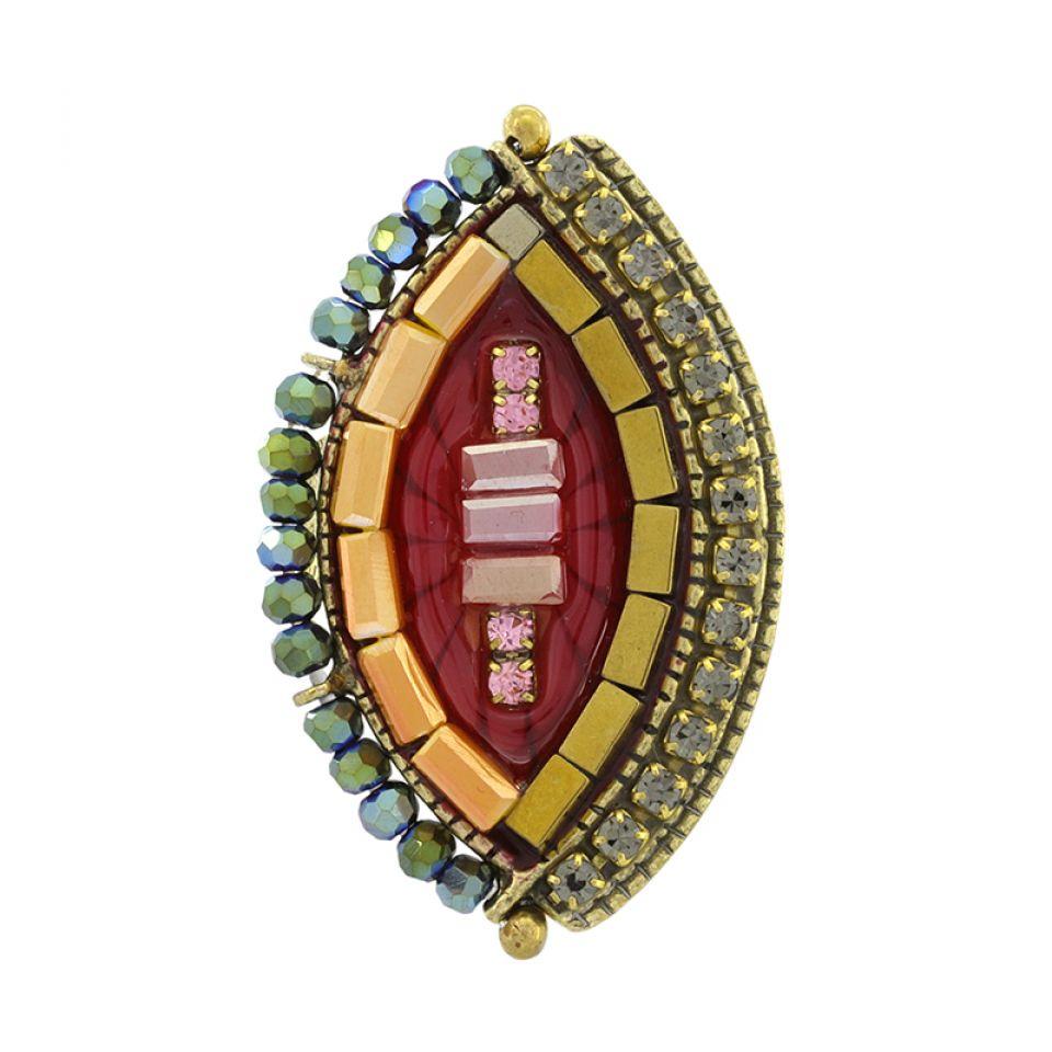 Bague Coquetterie Bronze Rouge Taratata Bijoux Fantaisie en ligne 1