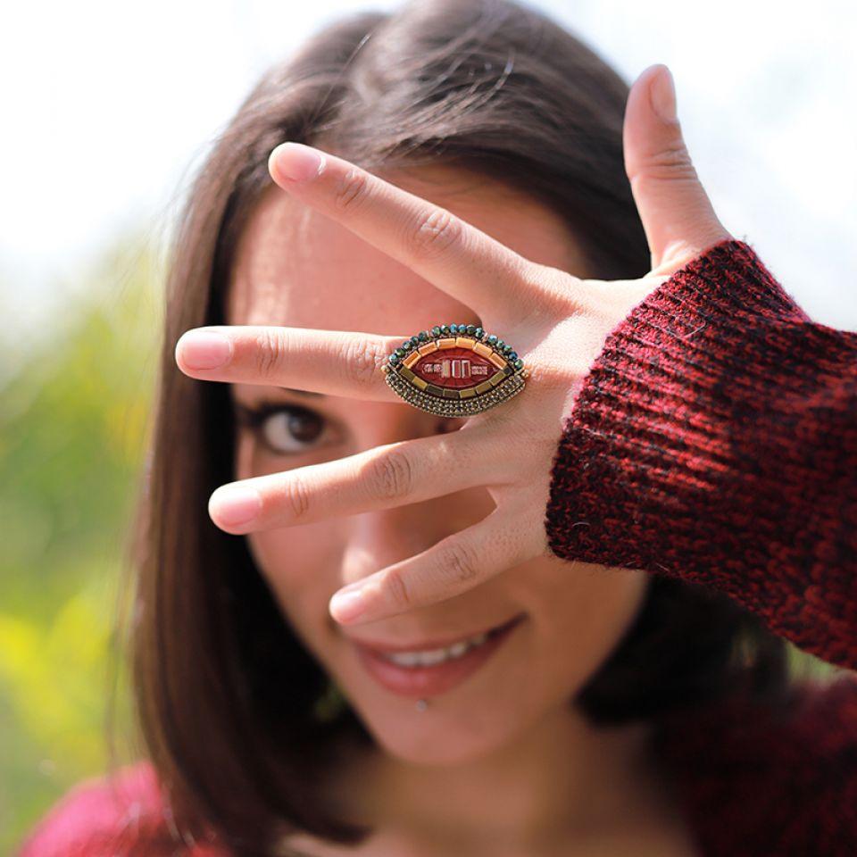 Bague Coquetterie Bronze Rouge Taratata Bijoux Fantaisie en ligne 2