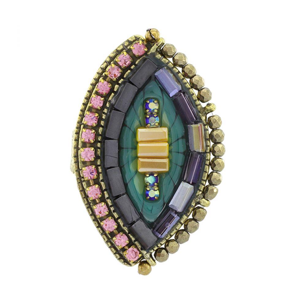 Bague Coquetterie Bronze Bleu Taratata Bijoux Fantaisie en ligne 3