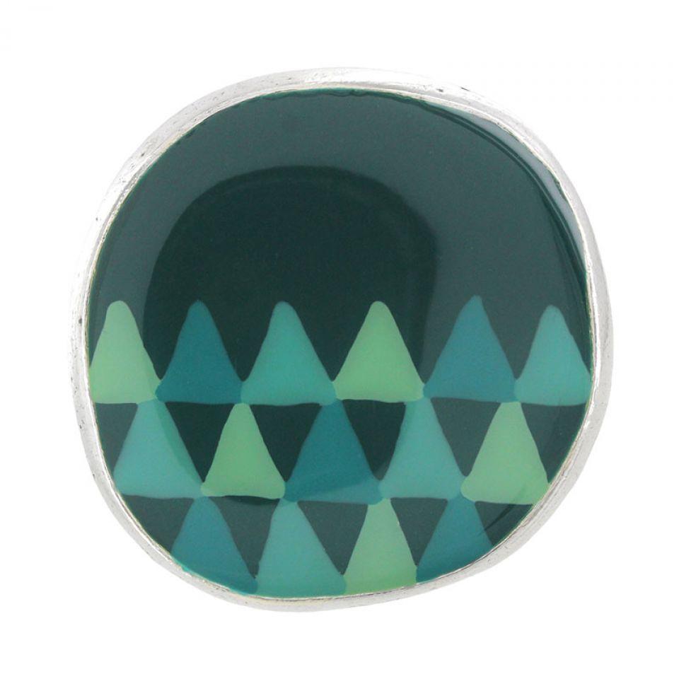 Bague Filipendule 2 Argent Vert Taratata Bijoux Fantaisie en ligne 1