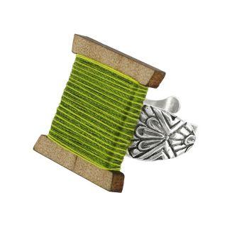 Bague La Boutonniere Argent Vert