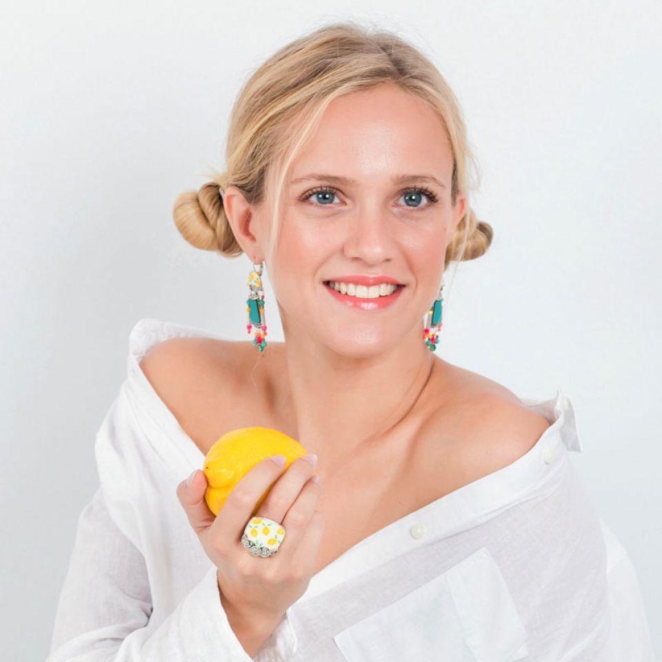 Bague Lemon Argent Jaune Taratata Bijoux Fantaisie en ligne 2