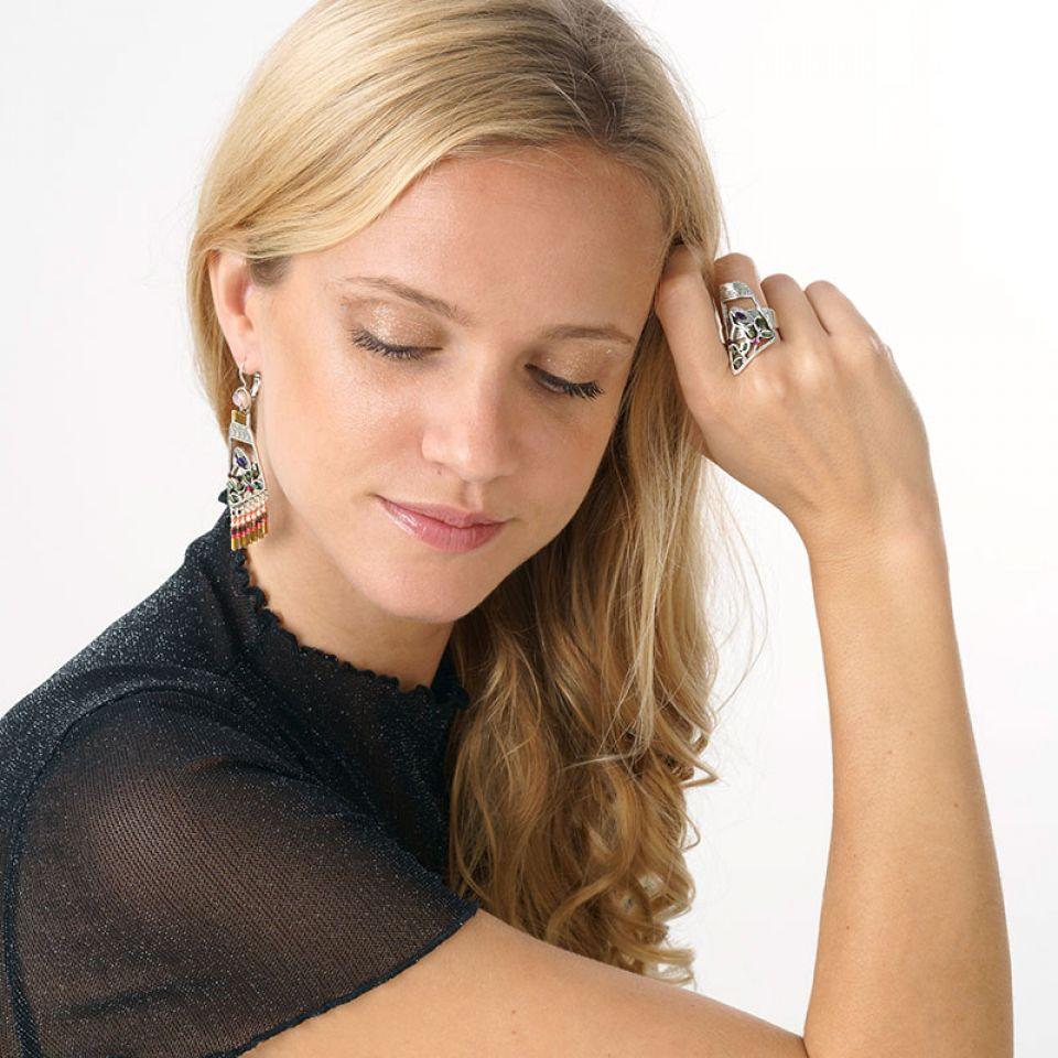Bague Lola Couleur Argent Multi Taratata Bijoux Fantaisie en ligne 2