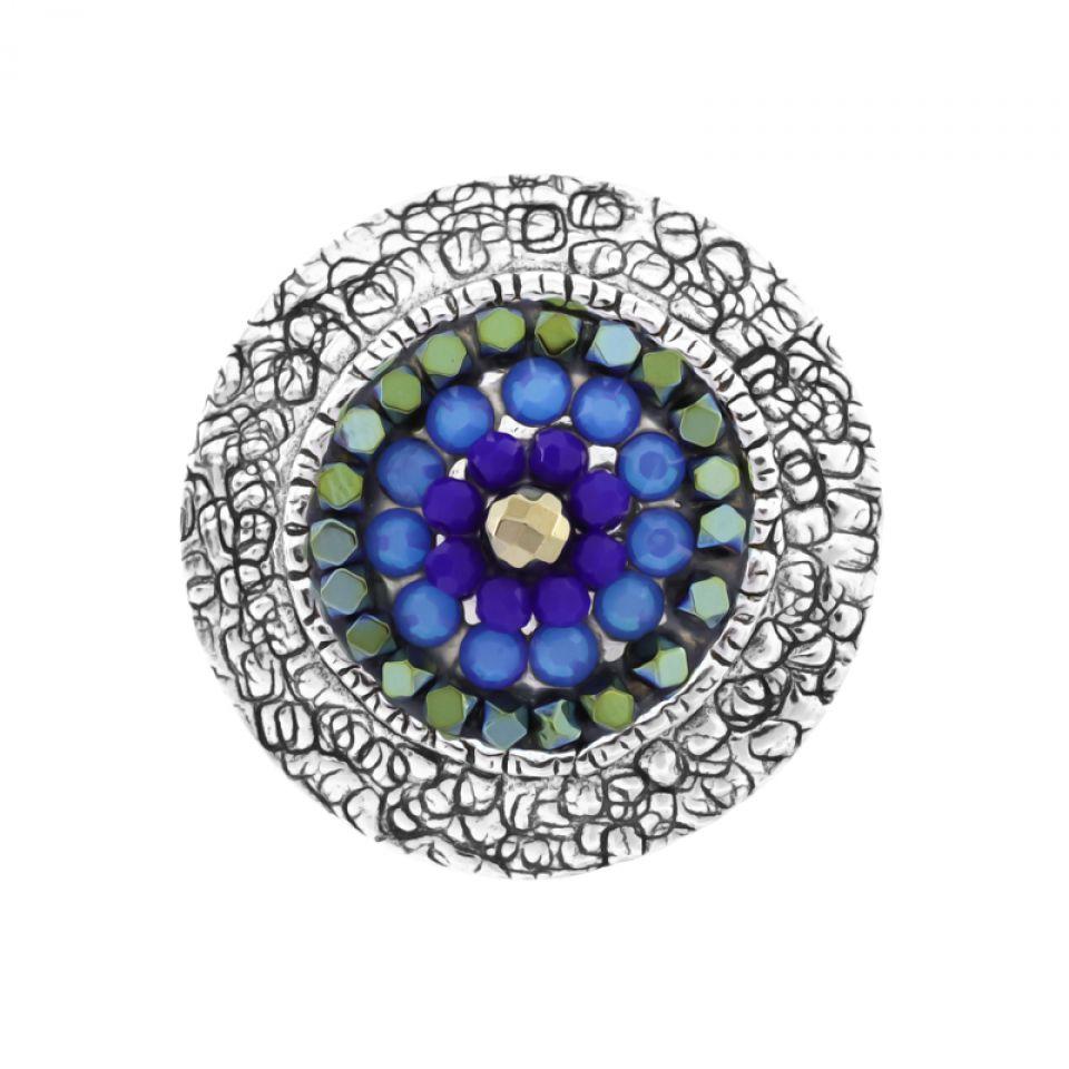 Bague Montmartre Argent Bleu Taratata Bijoux Fantaisie en ligne 3