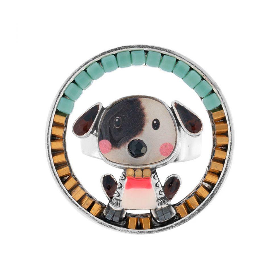 Bague Puppy Couleur Argent Blanc Taratata Bijoux Fantaisie en ligne 3