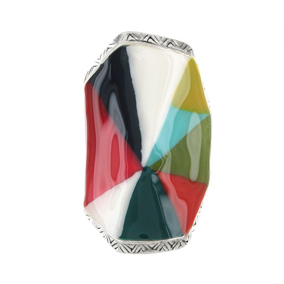 Bague Rainbow Argent Multi Taratata Bijoux Fantaisie en ligne 4