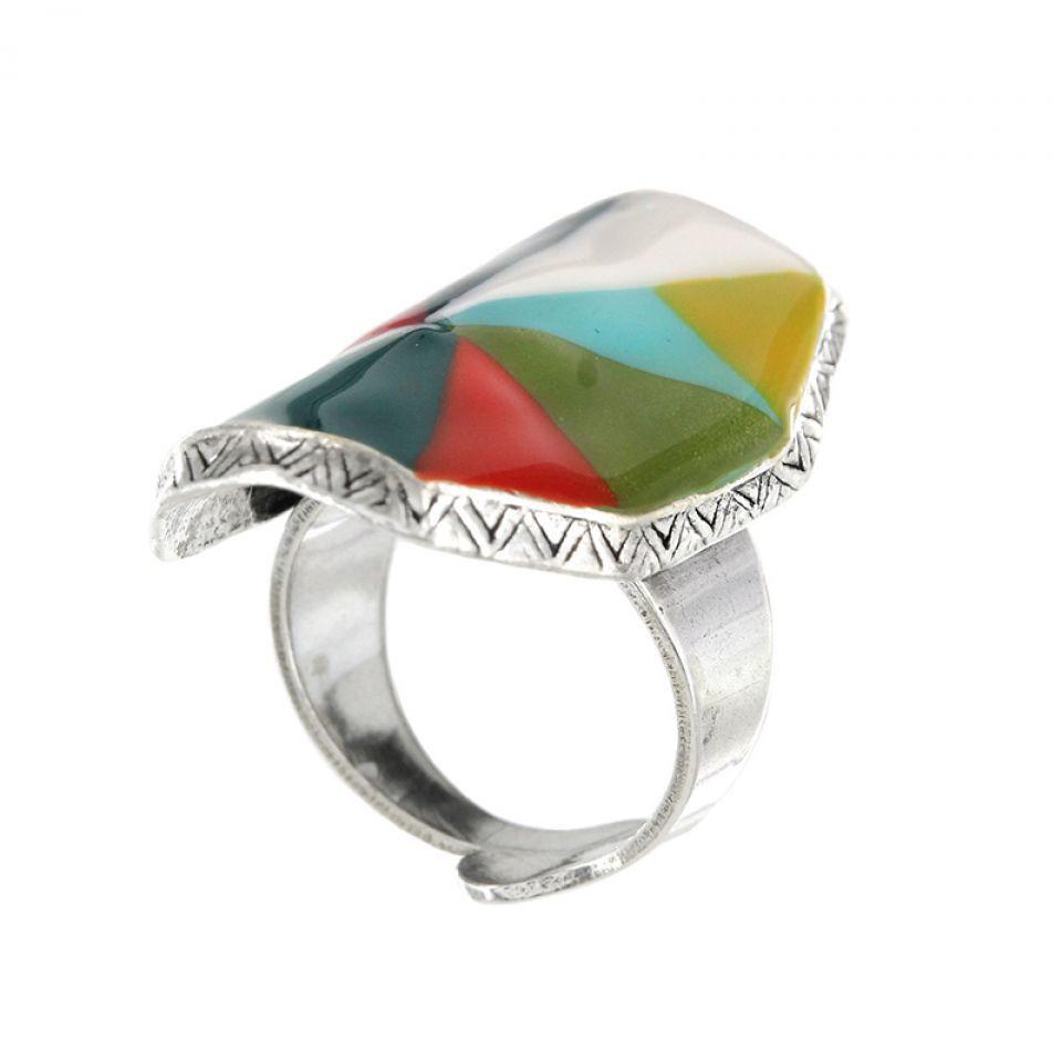 Bague Rainbow Argent Multi Taratata Bijoux Fantaisie en ligne 5