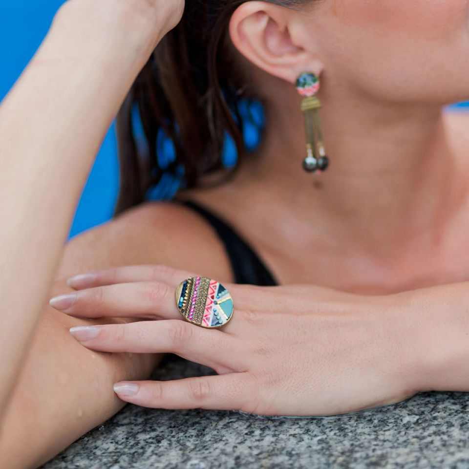 Bague Seduction Bronze Multi Taratata Bijoux Fantaisie en ligne 2