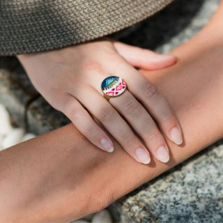 Bague Seduction Bronze Multi