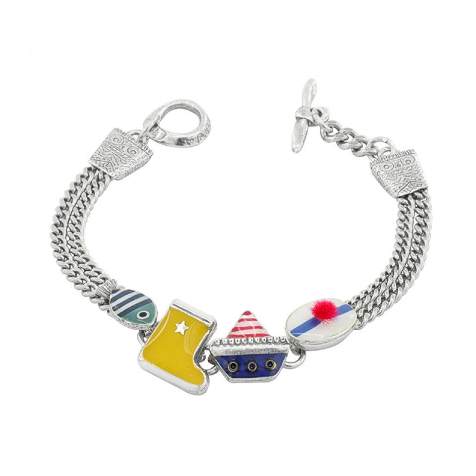 Bracelet A L Abordage Argent Multi Taratata Bijoux Fantaisie en ligne 2