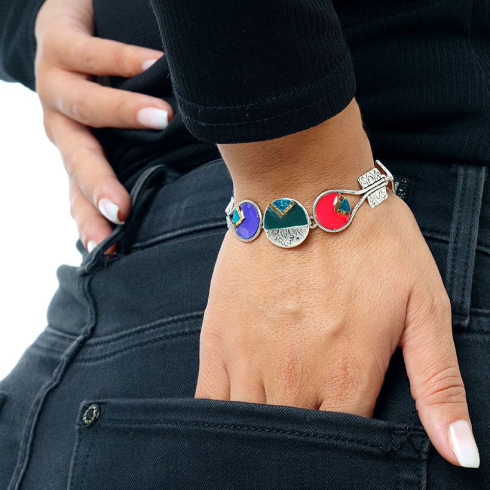 Bracelet Africa Pop Couleur Argent Multi Taratata Bijoux Fantaisie en ligne 2