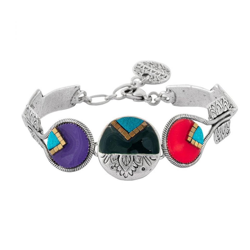 Bracelet Africa Pop Couleur Argent Multi Taratata Bijoux Fantaisie en ligne 3