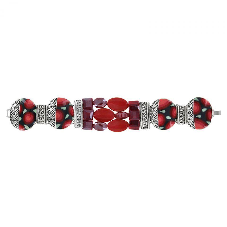 Bracelet Amarena Argent Rouge Taratata Bijoux Fantaisie en ligne 1