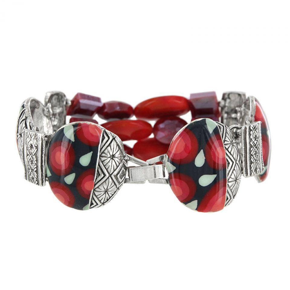 Bracelet Amarena Argent Rouge Taratata Bijoux Fantaisie en ligne 3
