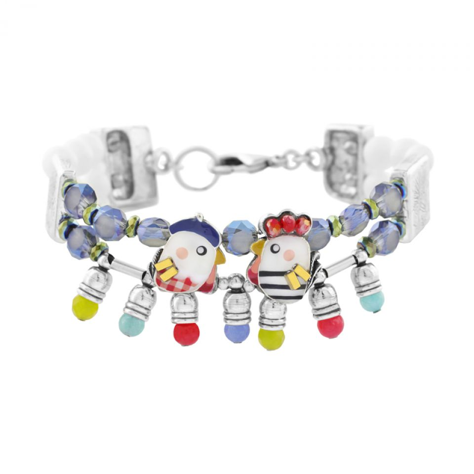 Bracelet Amoureuse Argent Multi Taratata Bijoux Fantaisie en ligne 1