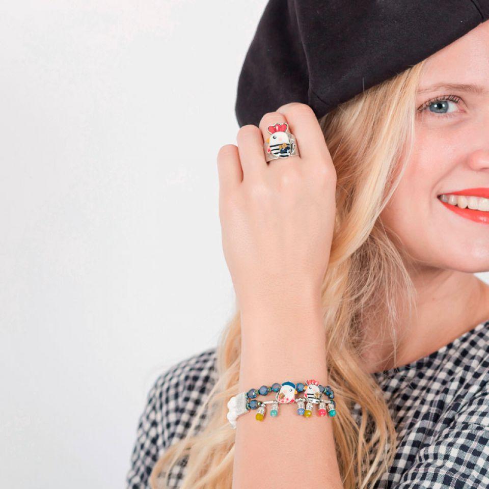 Bracelet Amoureuse Argent Multi Taratata Bijoux Fantaisie en ligne 2