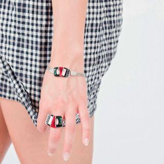 Bracelet Amoureuse Argent Noir