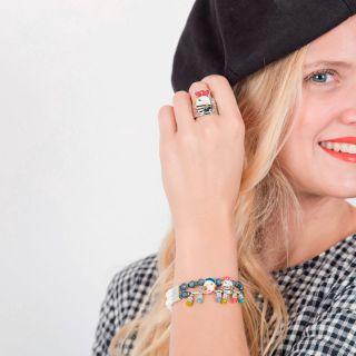Bracelet Amoureuse Argent Multi