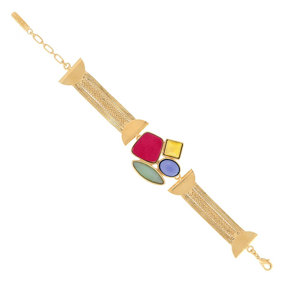 Bracelet Arc-en-ciel Dore Multi Taratata Bijoux Fantaisie en ligne 1
