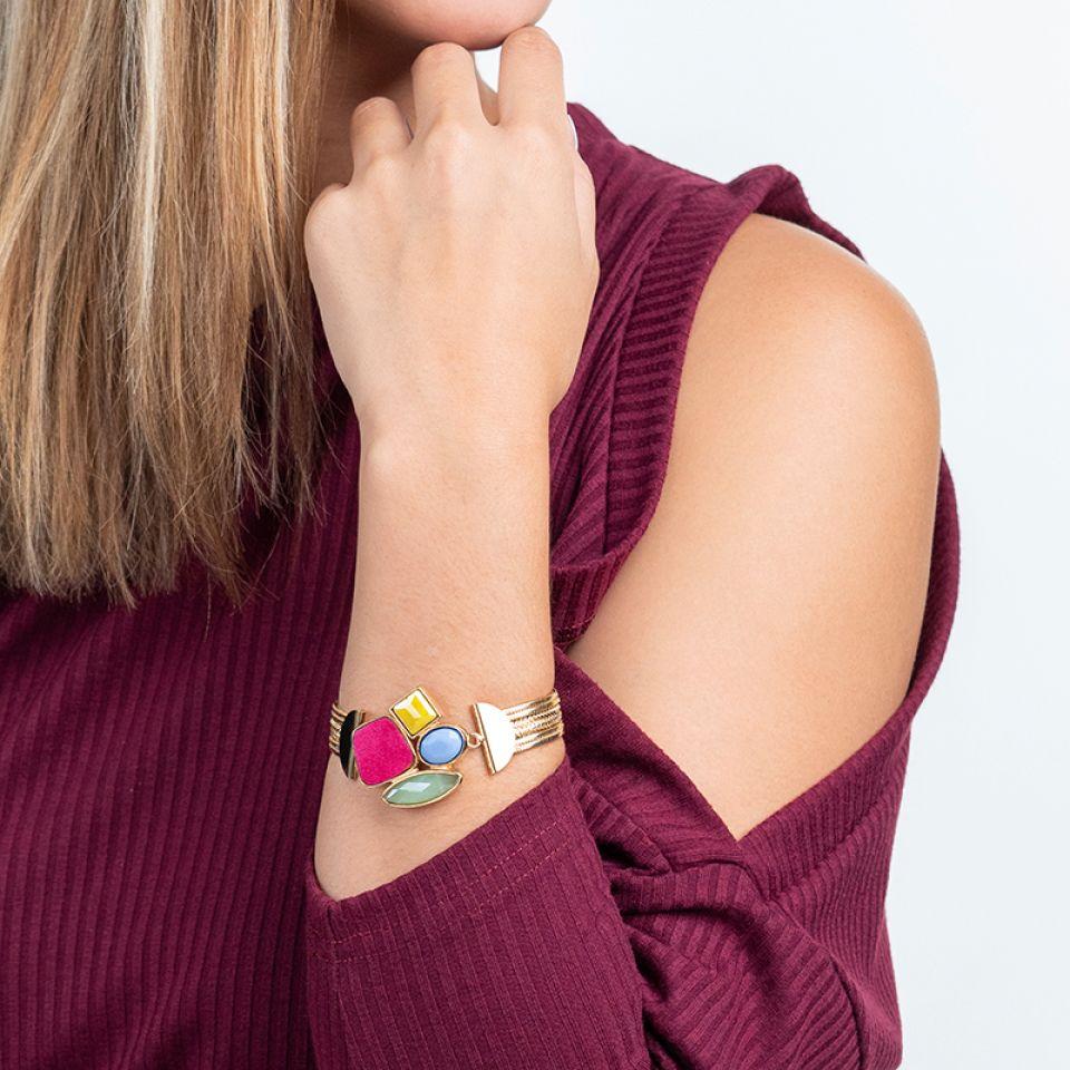Bracelet Arc-en-ciel Dore Multi Taratata Bijoux Fantaisie en ligne 2
