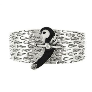 Bracelet Aronde Argent Noir