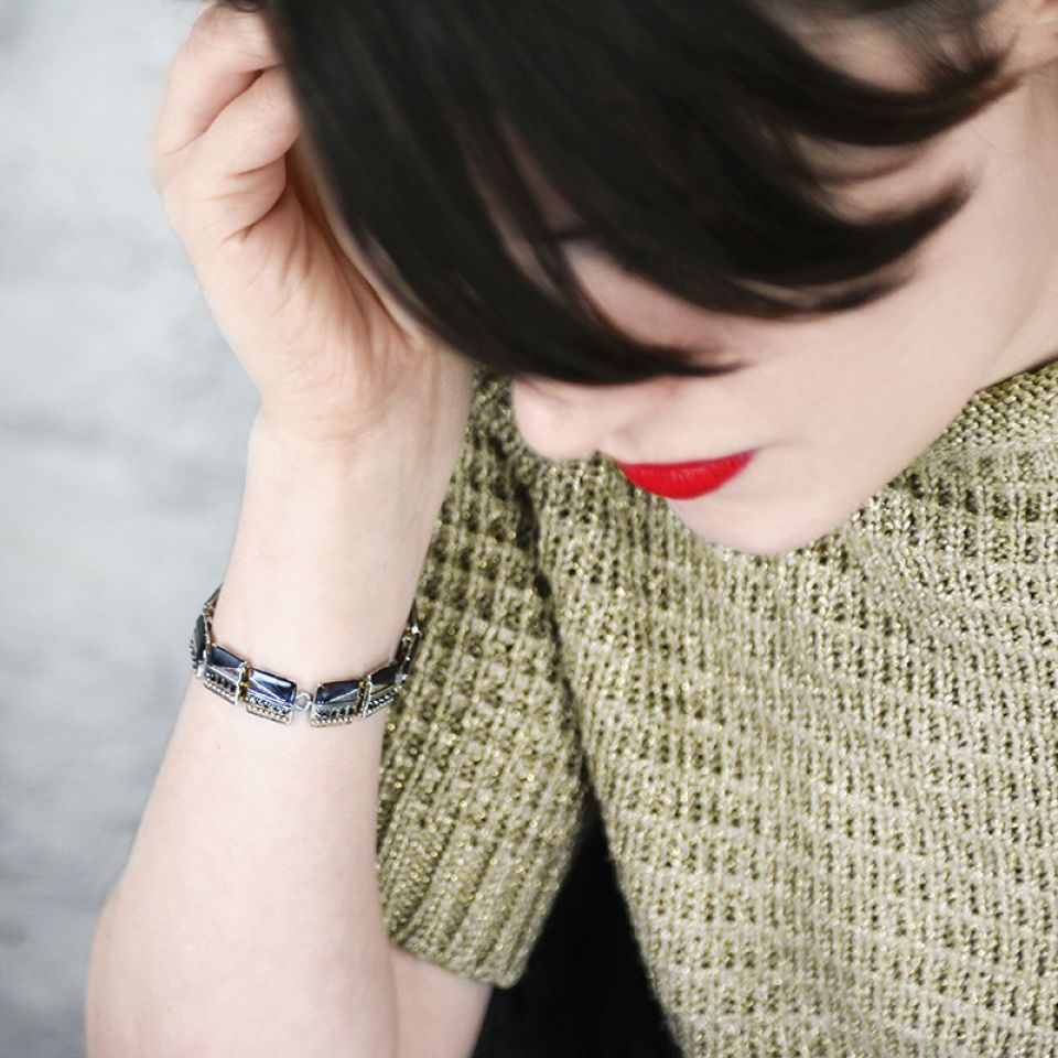 Bracelet Audrey Argent Bleu Taratata Bijoux Fantaisie en ligne 3