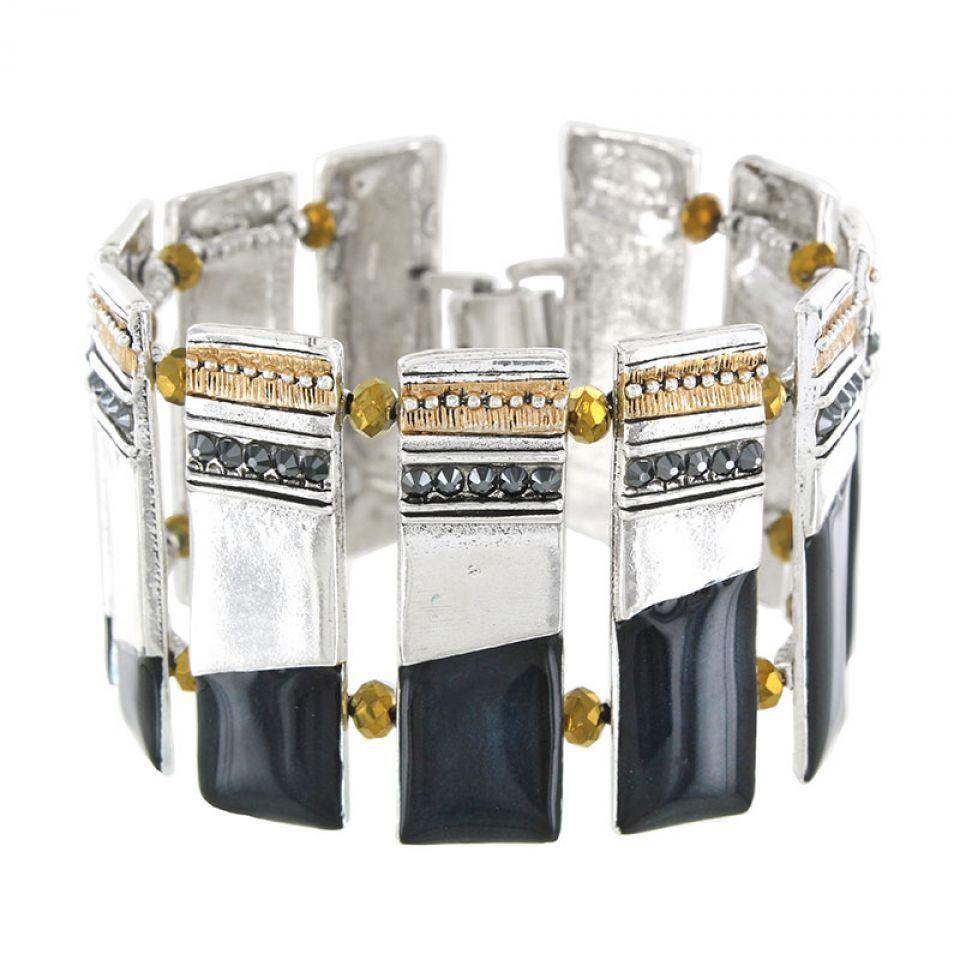 Bracelet Audrey Argent Bleu Taratata Bijoux Fantaisie en ligne 1