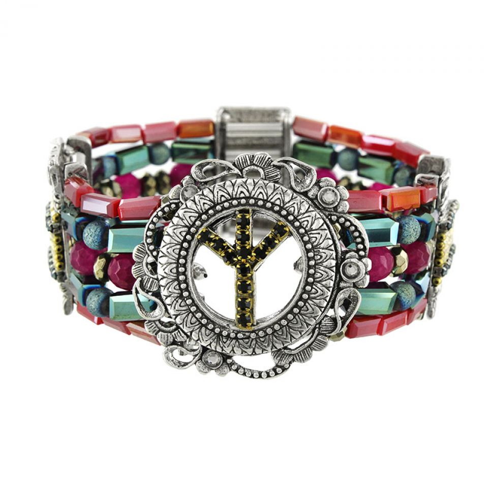Bracelet Baba-chic Argent Multi Taratata Bijoux Fantaisie en ligne 1
