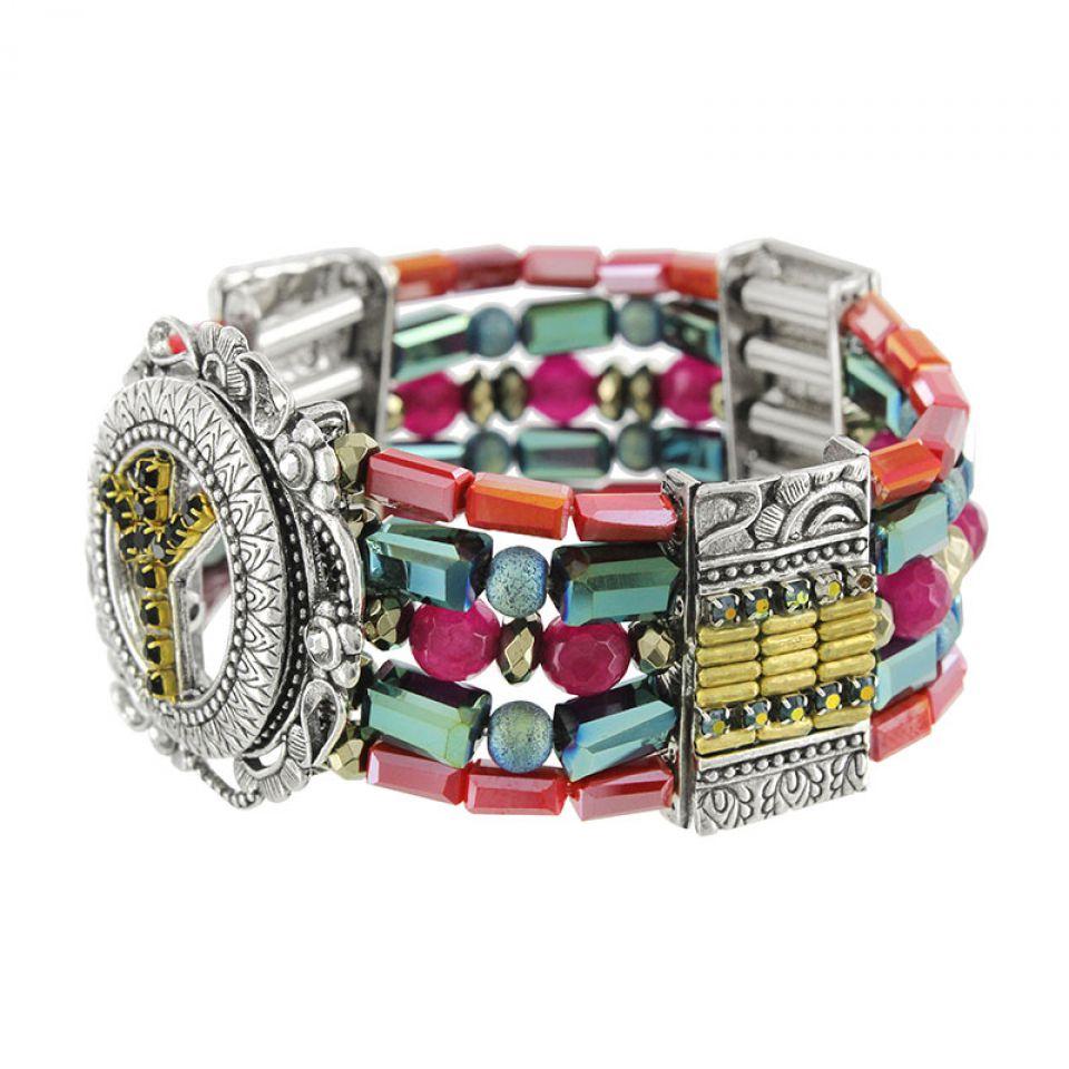 Bracelet Baba-chic Argent Multi Taratata Bijoux Fantaisie en ligne 3