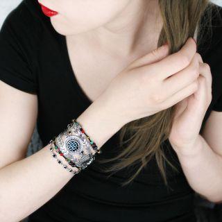 Bracelet Barbe Bleue Argent Multi