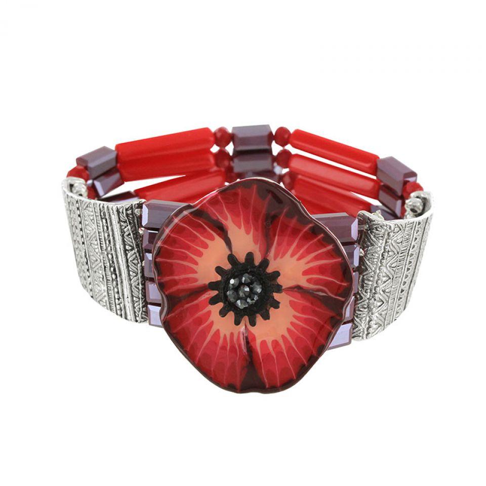 Bracelet Belle A Croquer Argent Rouge Taratata Bijoux Fantaisie en ligne 1