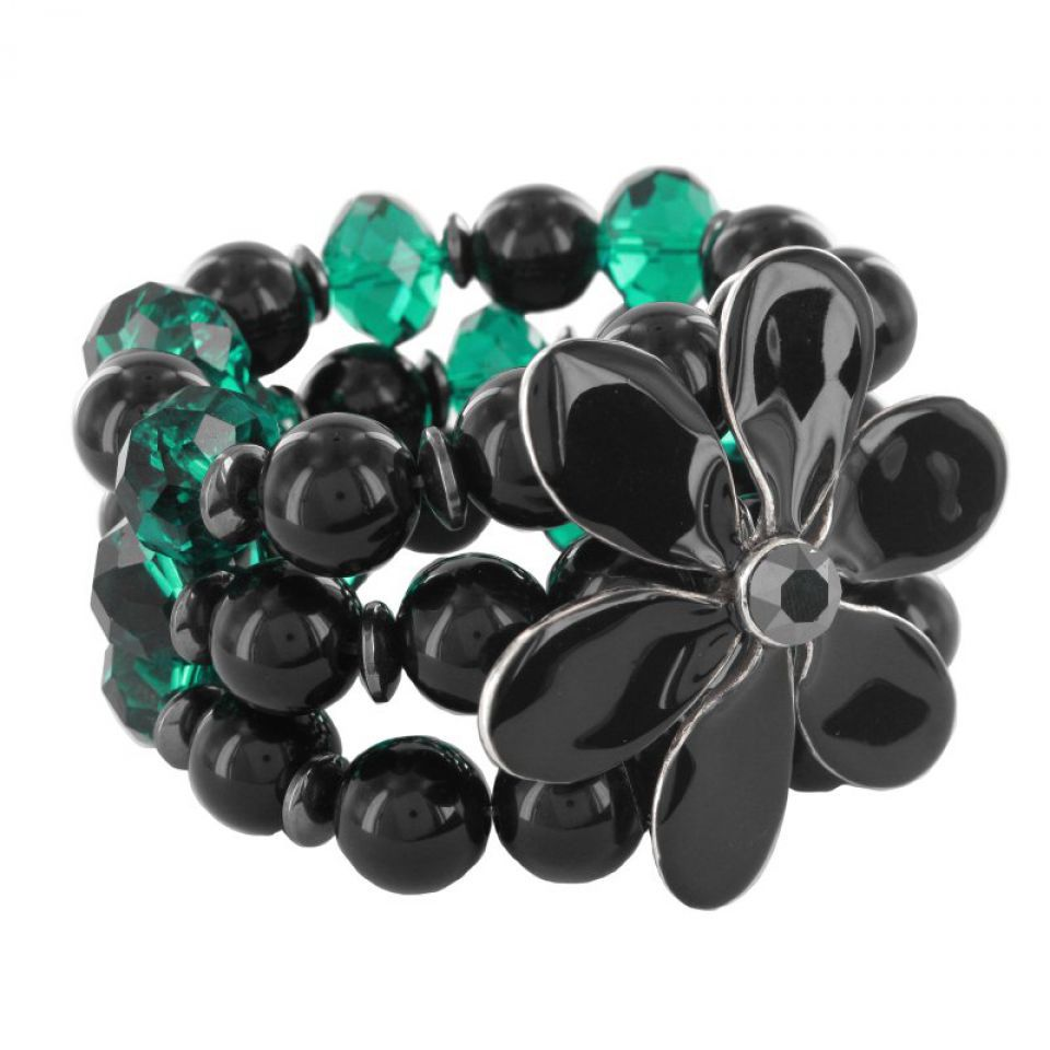 Bracelet Black Swan Noir Taratata Bijoux Fantaisie en ligne 1