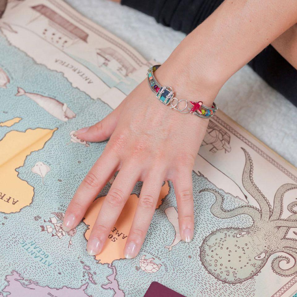 Bracelet Bon Voyage Argent Multi Taratata Bijoux Fantaisie en ligne 1