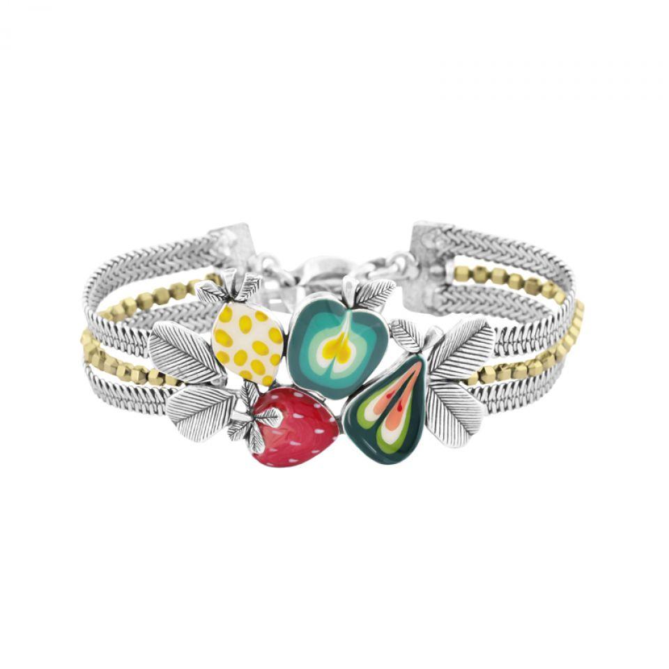 Bracelet Bonbon Argent Multi Taratata Bijoux Fantaisie en ligne 1