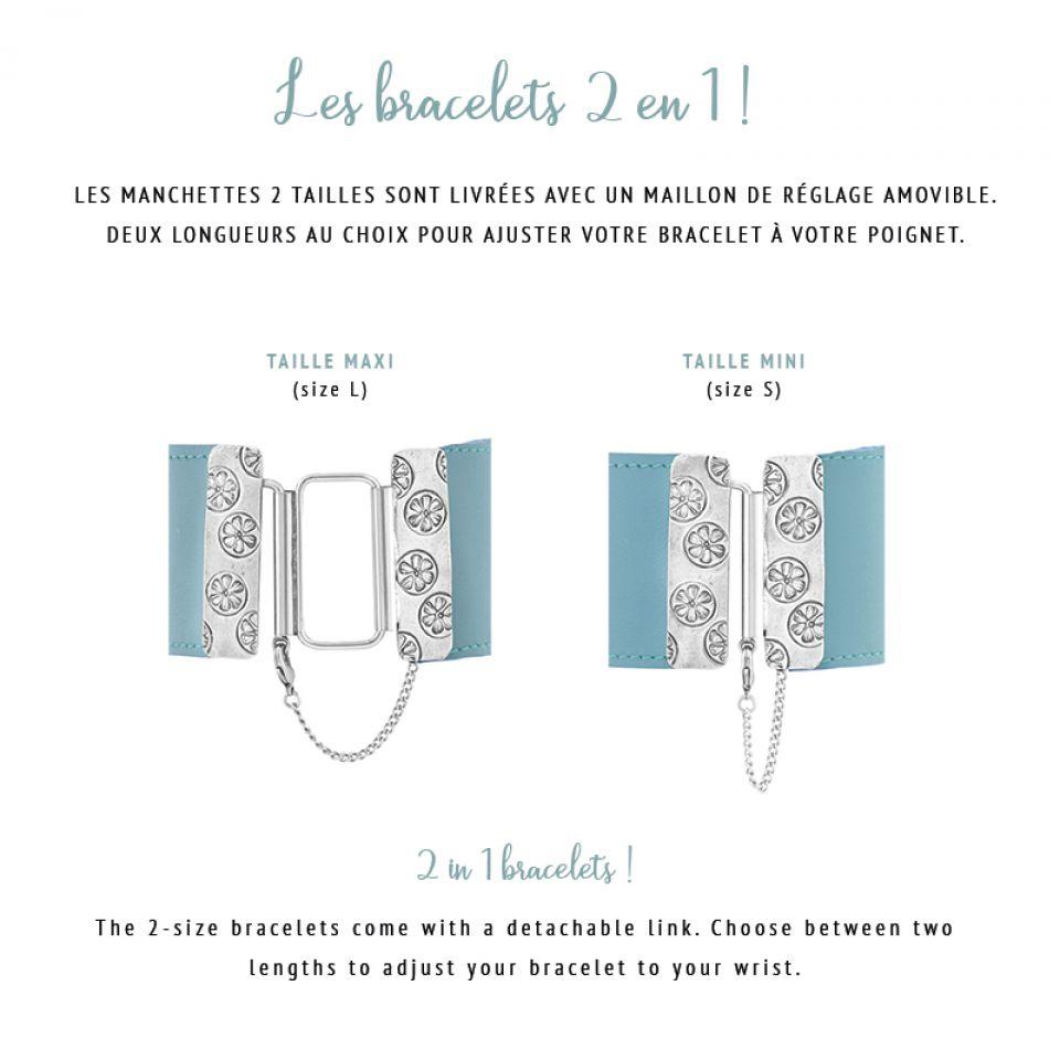 Bracelet Capitaine Argent Bleu Taratata Bijoux Fantaisie en ligne 6