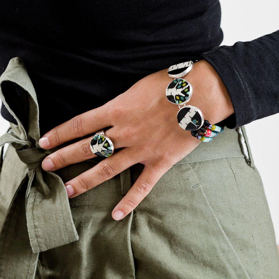 Bracelet Charme Argent Multi Taratata Bijoux Fantaisie en ligne 2
