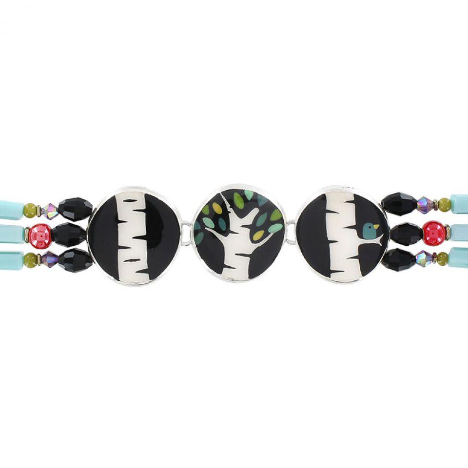 Bracelet Charme Argent Multi Taratata Bijoux Fantaisie en ligne 3