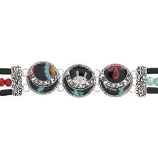 Bracelet Chinchilla Argent Multi