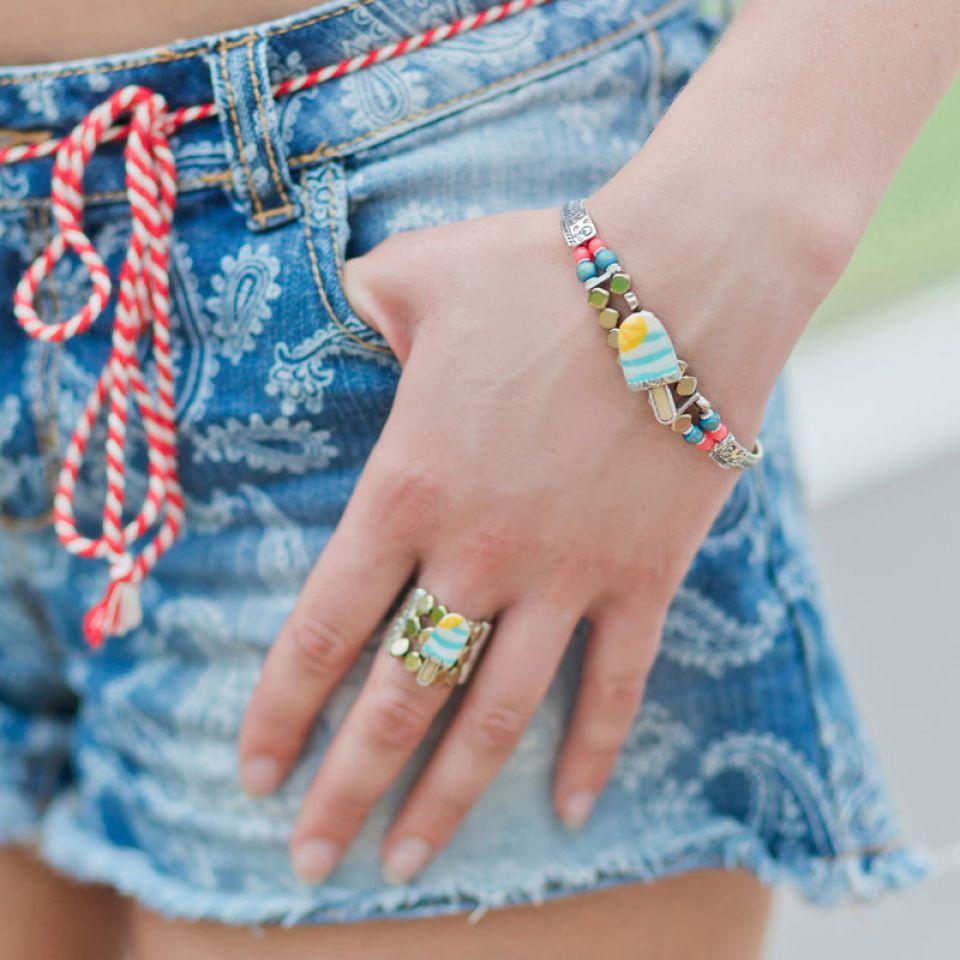Bracelet Chouchous Argent Bleu Taratata Bijoux Fantaisie en ligne 1