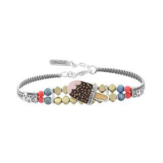 Bracelet Chouchous Argent Marron