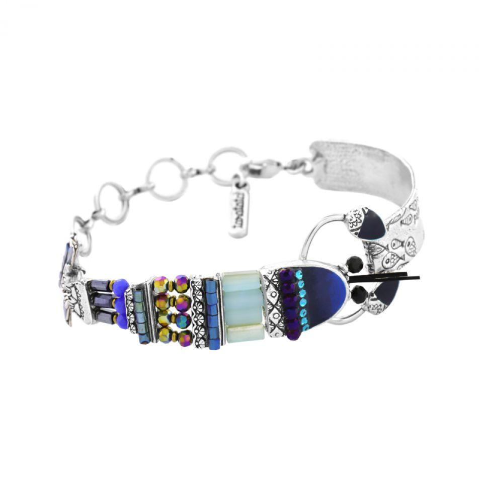 Bracelet Corail Argent Bleu Taratata Bijoux Fantaisie en ligne 1