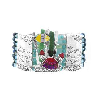 Bracelet Corail Argent Multi