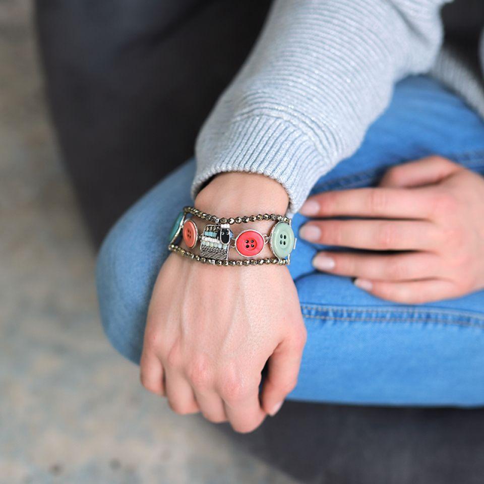 Bracelet Cousu-main Argent Multi Taratata Bijoux Fantaisie en ligne 2