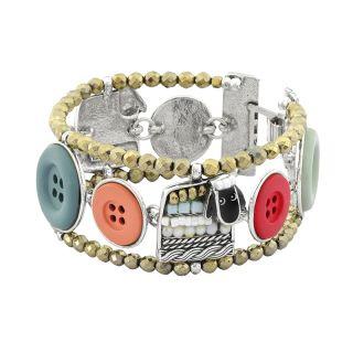 Bracelet Cousu-main Argent Multi