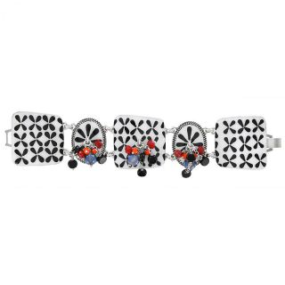 Bracelet Double Six Argent Multi