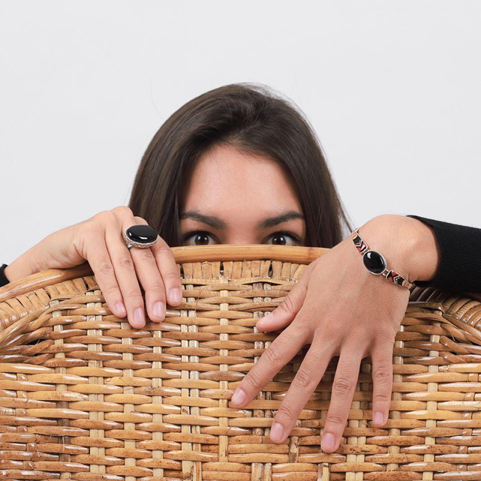 Bracelet Equivoque Argent Noir Taratata Bijoux Fantaisie en ligne 1